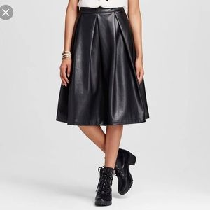Who What Wear brand faux leather skirt